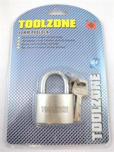 KDPLK025 40MM SATIN PADLOCK WITH 4 SECURITY KEYS