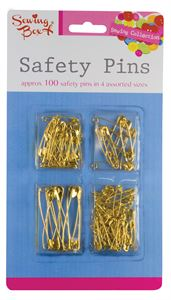 KC4079-48 Gold Safety Pins