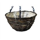 Dark rattan Hanging Basket